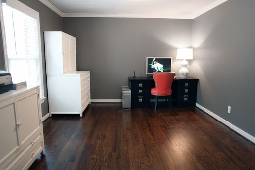 Restoration Hardware Slate Living Dining Room House Grey Walls