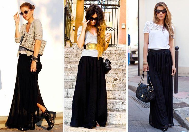falda negra larga  09fc8b5bb572