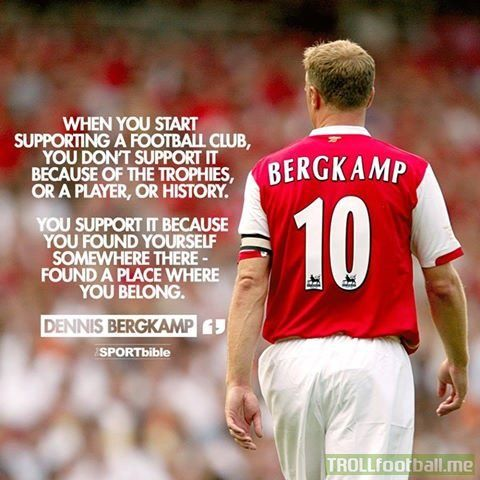 Dennis Bergkamp quote supporting a club