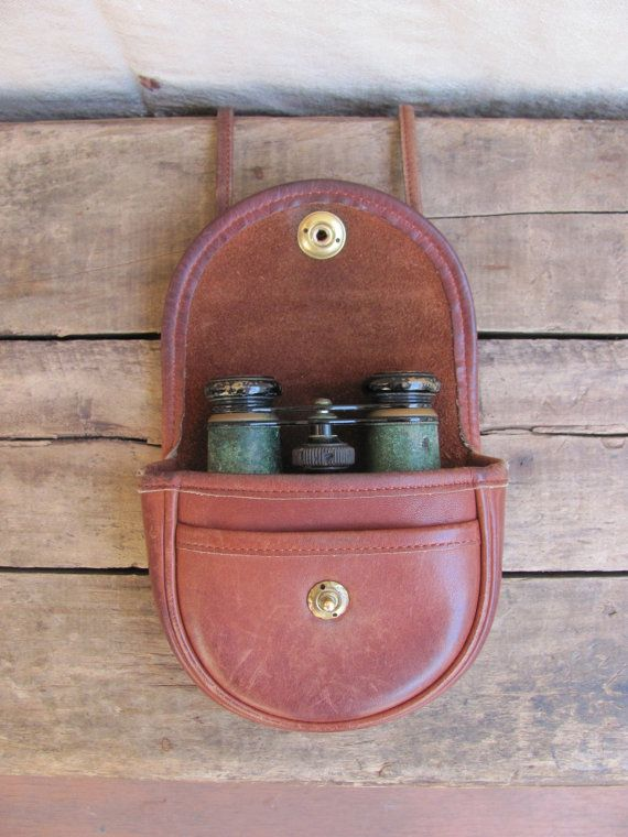 vintage c 1990s distressed British tan leather cross body mini purse / belt bag by MouseTrapVintage, $42.00