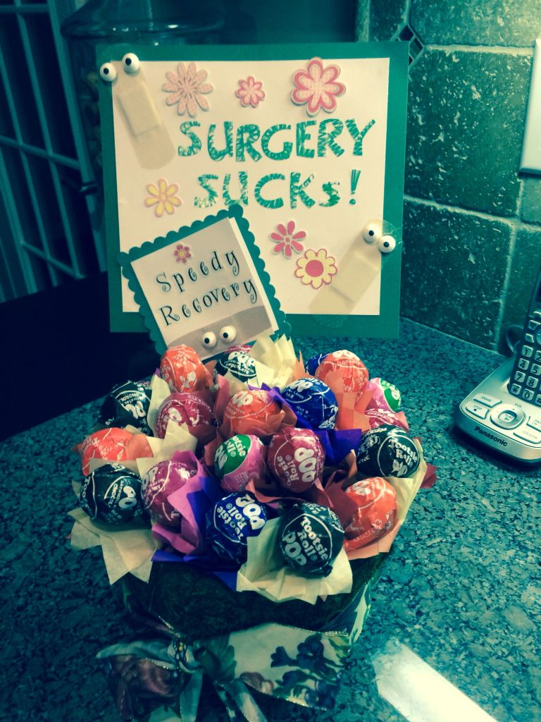 Surgery get well gift everything else pinterest gift for Unusual get well gifts