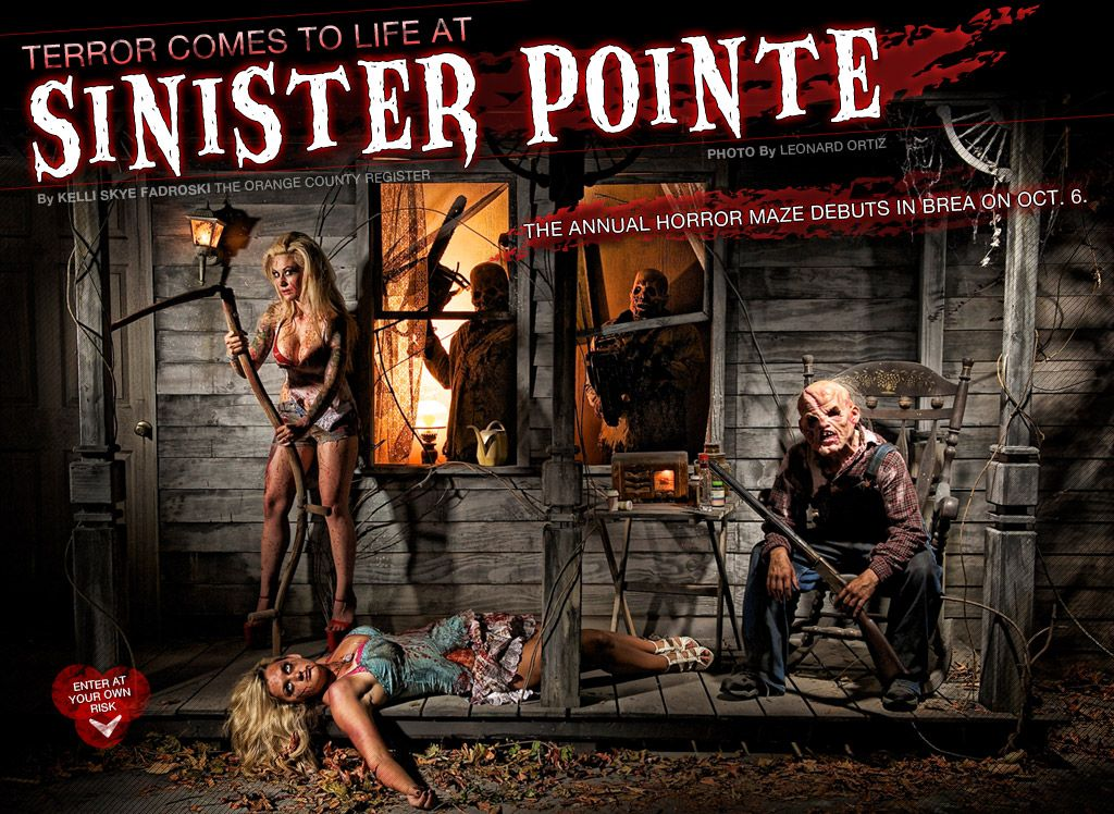 FRIGHT FEST! ATTRACTION! SINISTER POINTE Haunted