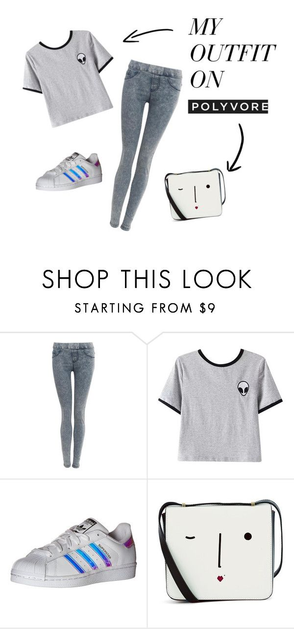 """""""Idk"""" by janetzw on Polyvore featuring Pilot, Chicnova Fashion, adidas Originals and Lulu Guinness"""