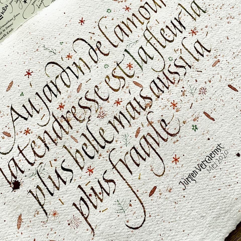 Https Www Facebook Com Jurgen Vercaemst Calligraphy Words Calligraphy Letters Lettering