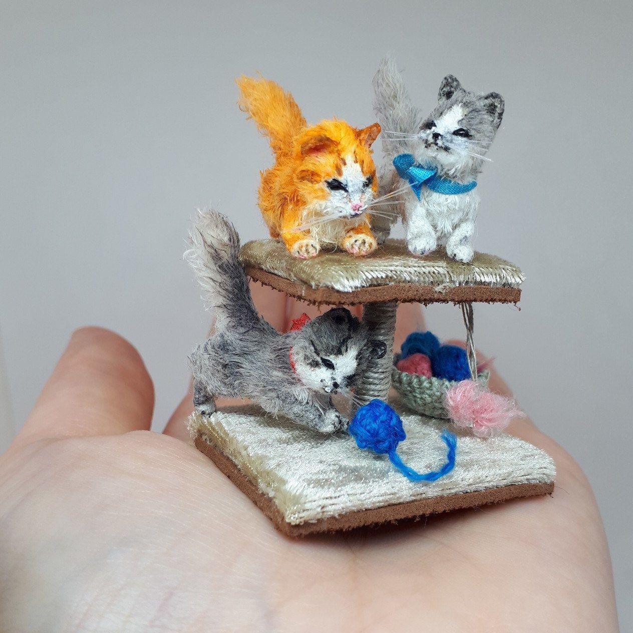 Miniature Realistic Cat Amigurumi Miniature Cat Miniature Etsy In 2020 Crochet Bear Crochet Teddy Tiny Cats