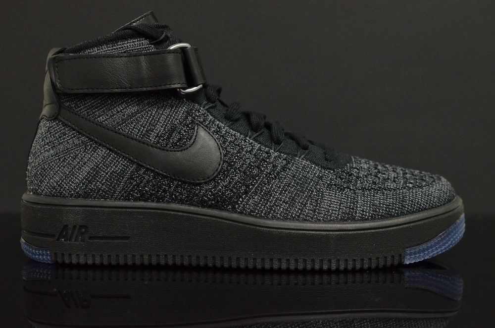 The Nike Flyknit Air Force 1 Goes All Black Nike flyknit and Air force