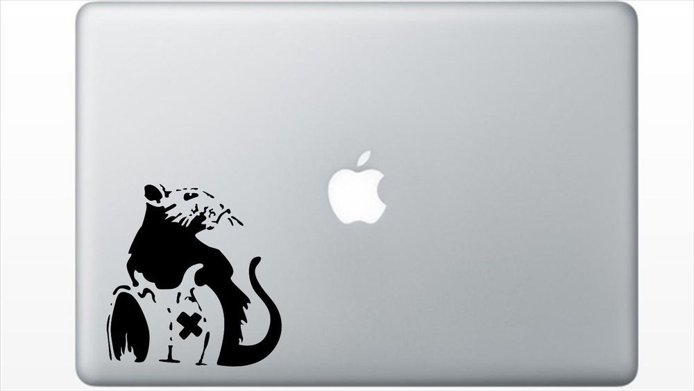 Banksy rat street art decal sticker macbook decal custom macbook decal ebay