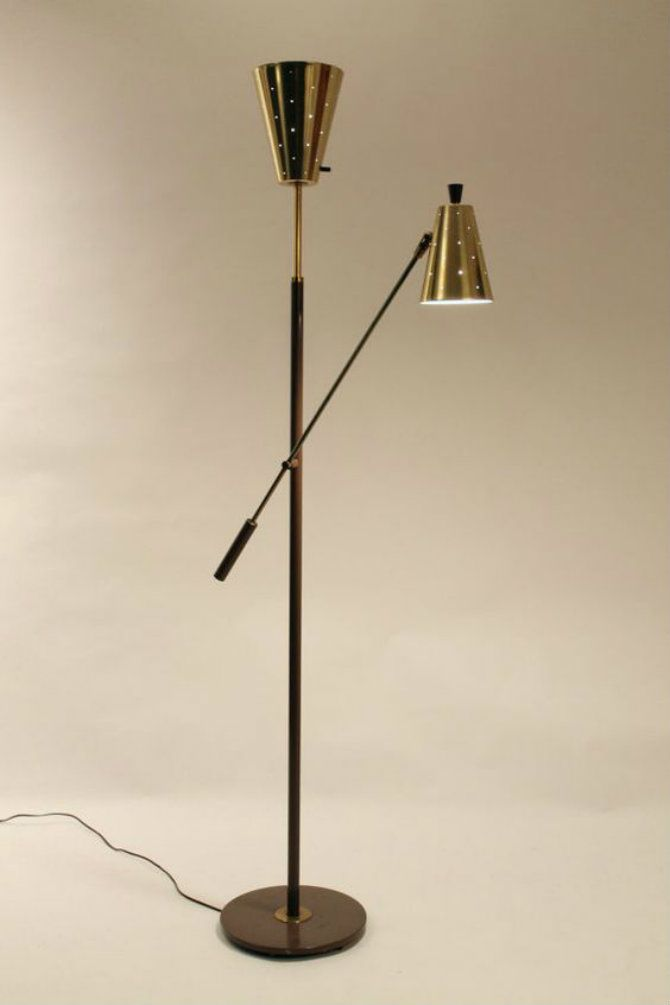 Mid century modern floor lamps for your living room designs rare gerald thurston lightolier standing lamp mid century modern floor lamps for your living room designs aloadofball Gallery