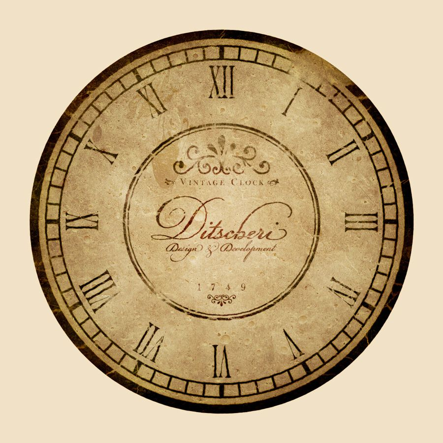 Learn how to create an aged vintage clock design with lots of detail ...