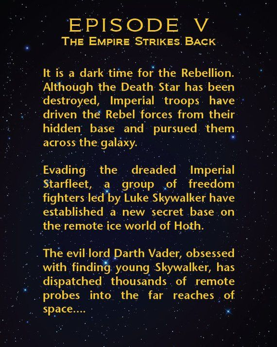 Episode 5 - The Empire Strikes Back/Star Wars Movies/Each Episode