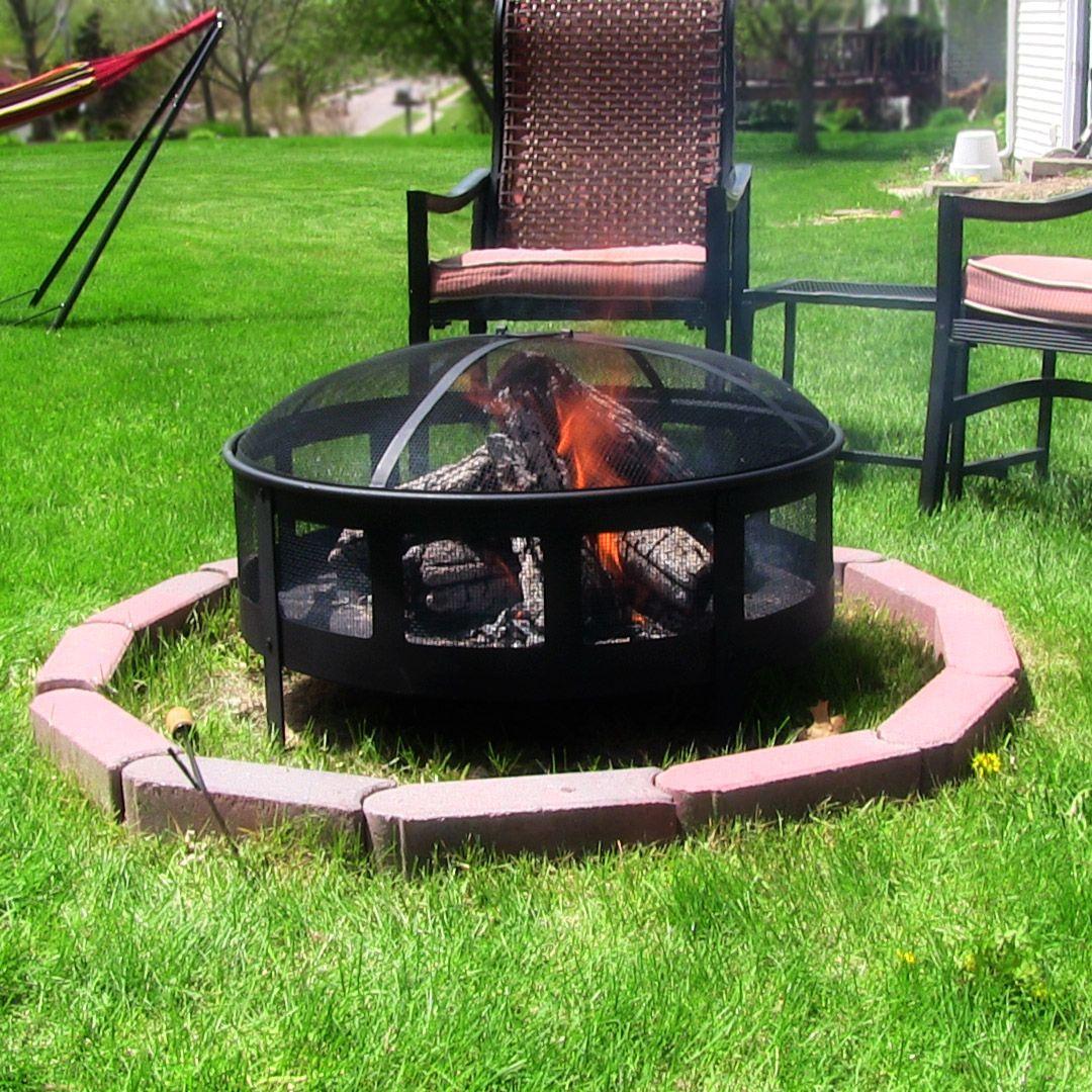 Sunnydaze Bravado Mesh Fire Pit This steel outdoor