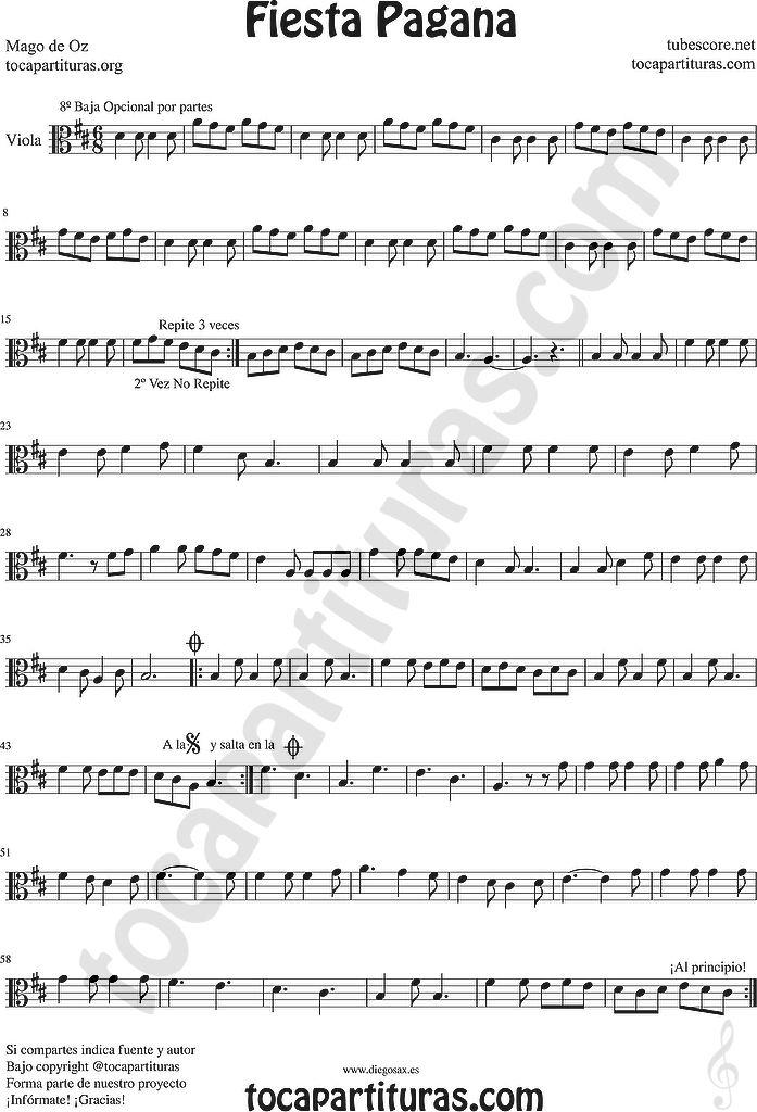 Pin On Viola Sheet Music