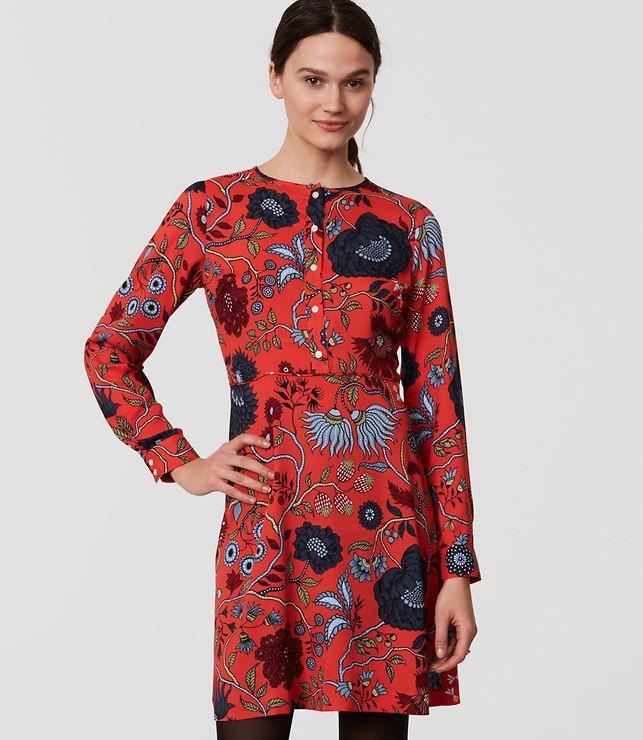 bcc2deb5acd LOFT Primavera Shirtdress in tamale red. Floral print dress. Dresses For  Sale