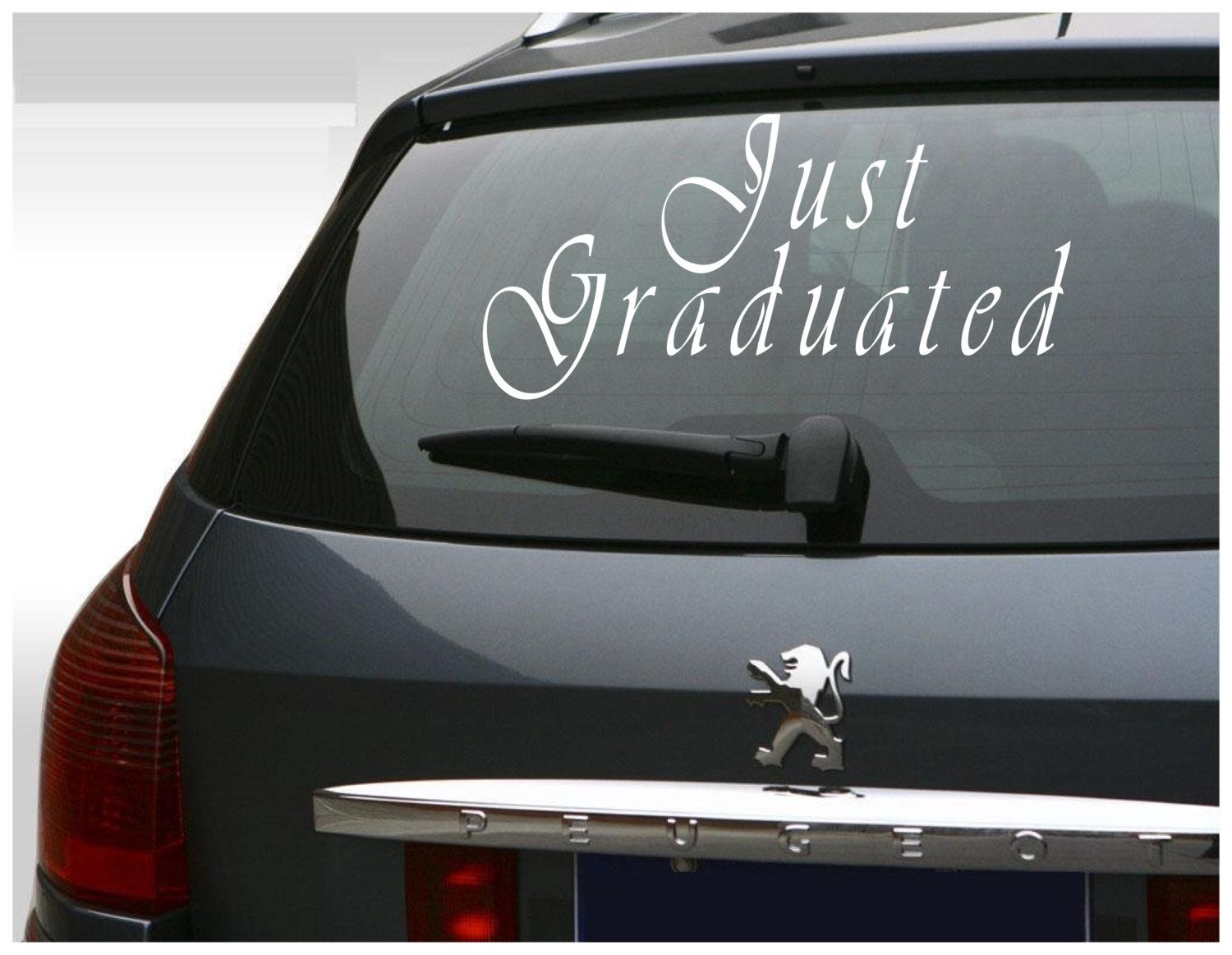 Just Graduated Vinyl Sticker Car Decal Graduation Decal - College custom vinyl decals for car windows