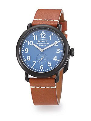 Shinola Runwell Stainless Steel Watch - Brown