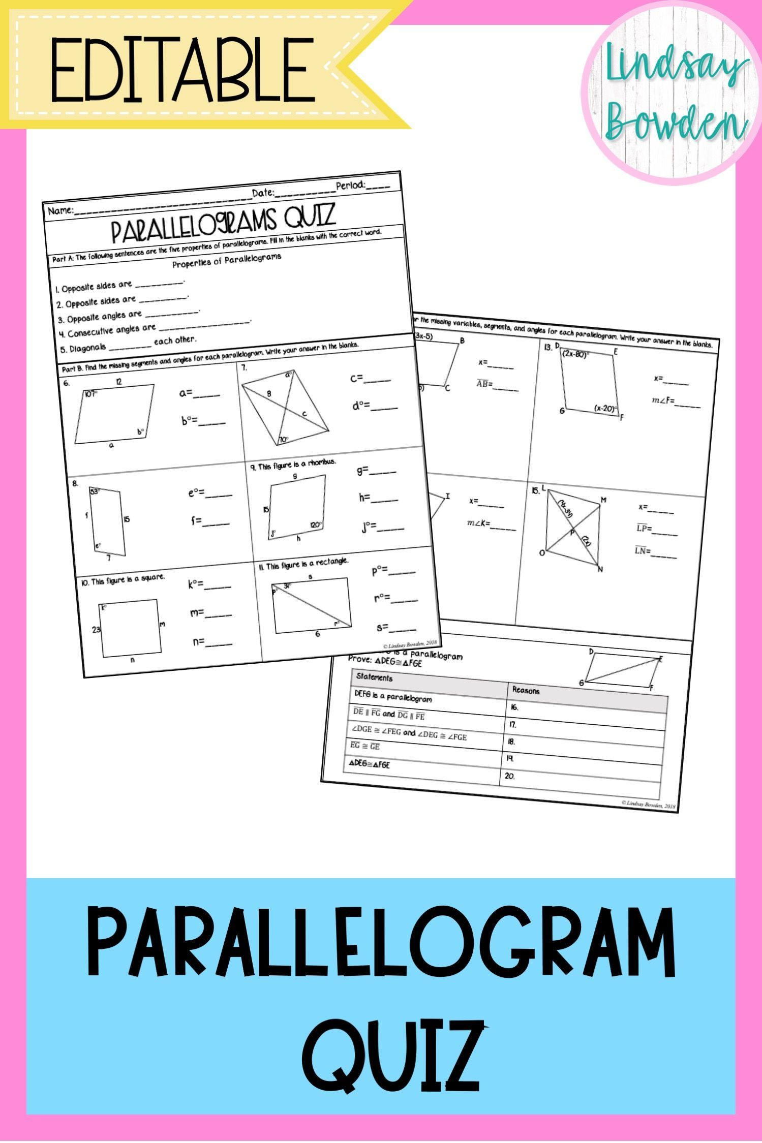 Parallelograms Quiz With Images