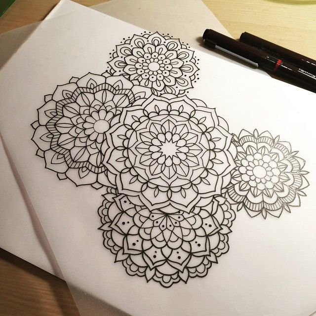 Mandala Cluster For Micky Tattoo Tattoodesign Design Drawing Art Penandink Handdrawn Mandala Mehndi Blacknd New Tattoos Trendy Tattoos Cool Tattoos