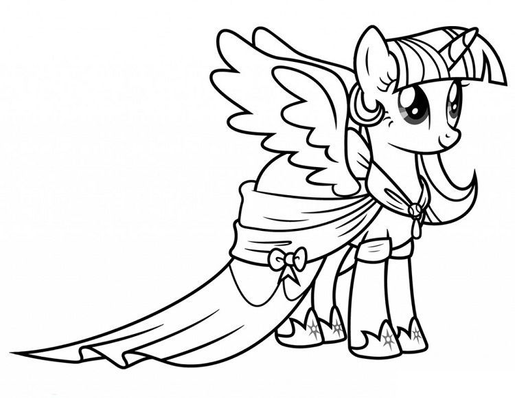 My Little Pony Coloring Pages Twilight Sparkle Alicorn Di 2020 Lembar Mewarnai Warna