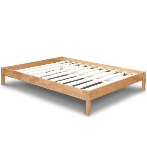 Best Price Mattress Solid Hardwood Platform Bed Queen