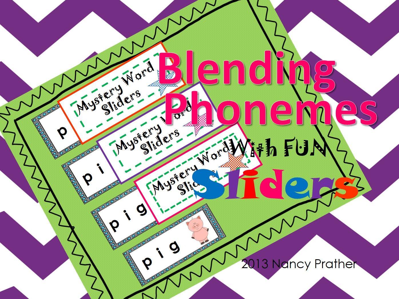 Cvc Words Blending Sounds Blending Cvc Words With Fun Sliders