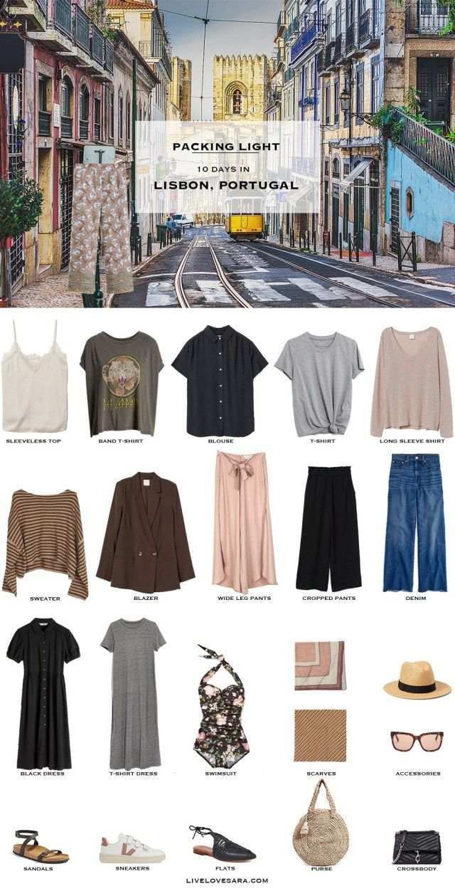 What to Pack for Lisbon, Portugal - Packing Light - livelovesara #travelwardrobesummer