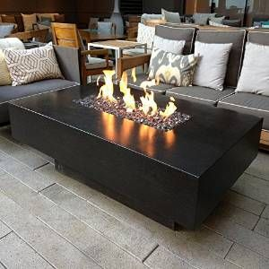 Dreffco 30 X 60 Custom Outdoor Rectangular Fire Pit Table With