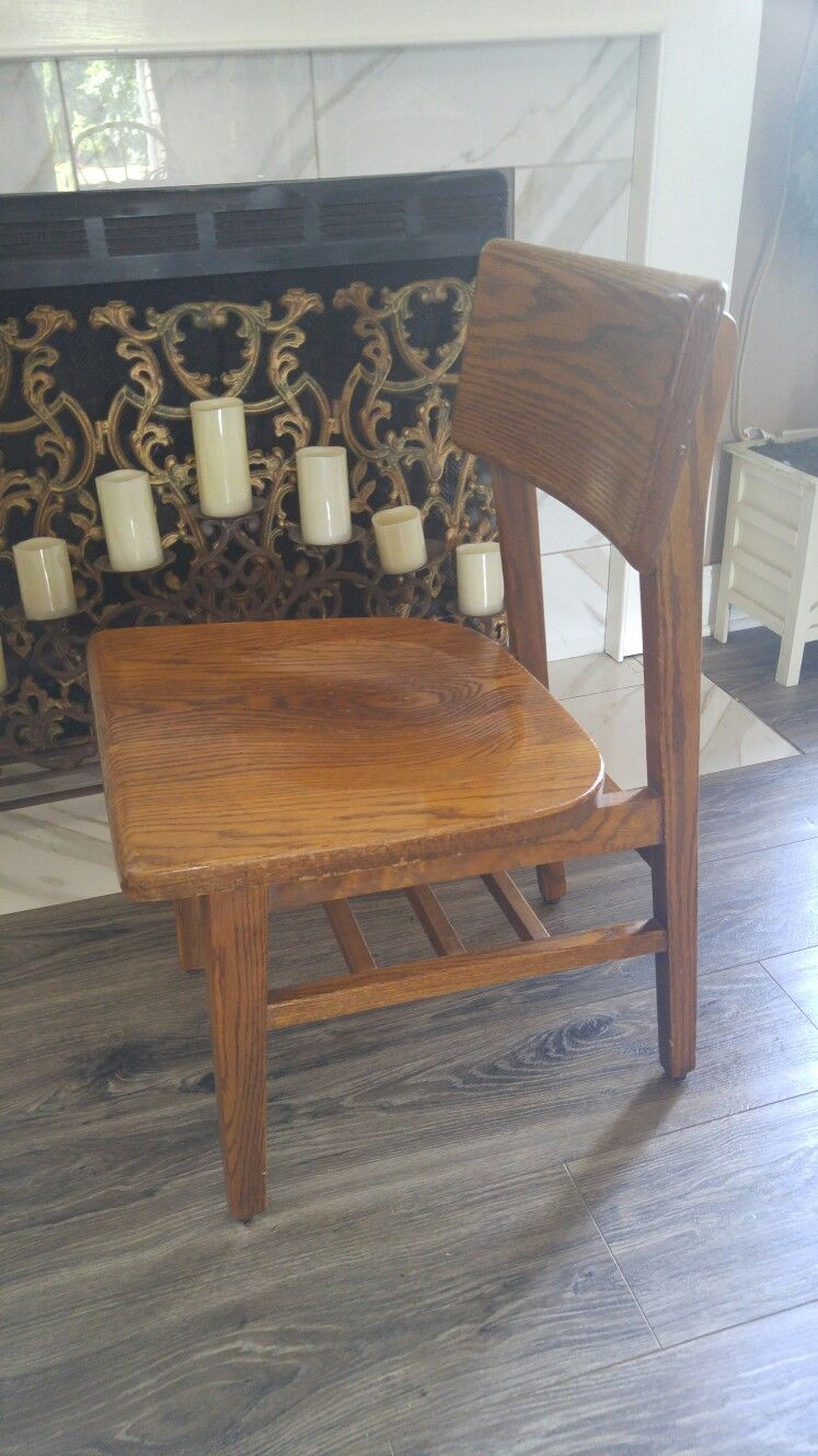 Mcm, Mid Century Modern Chait, Solid Wood Chair, Wide Seat Chair, Low