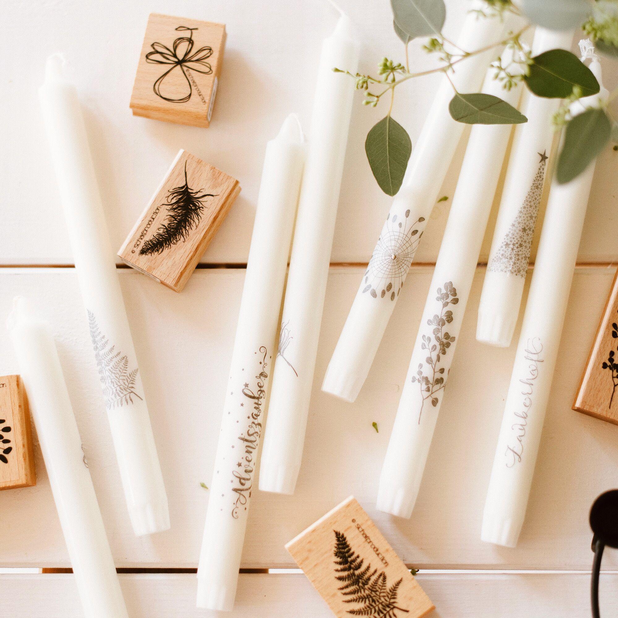 DIY Anleitung – Kerzen bestempeln