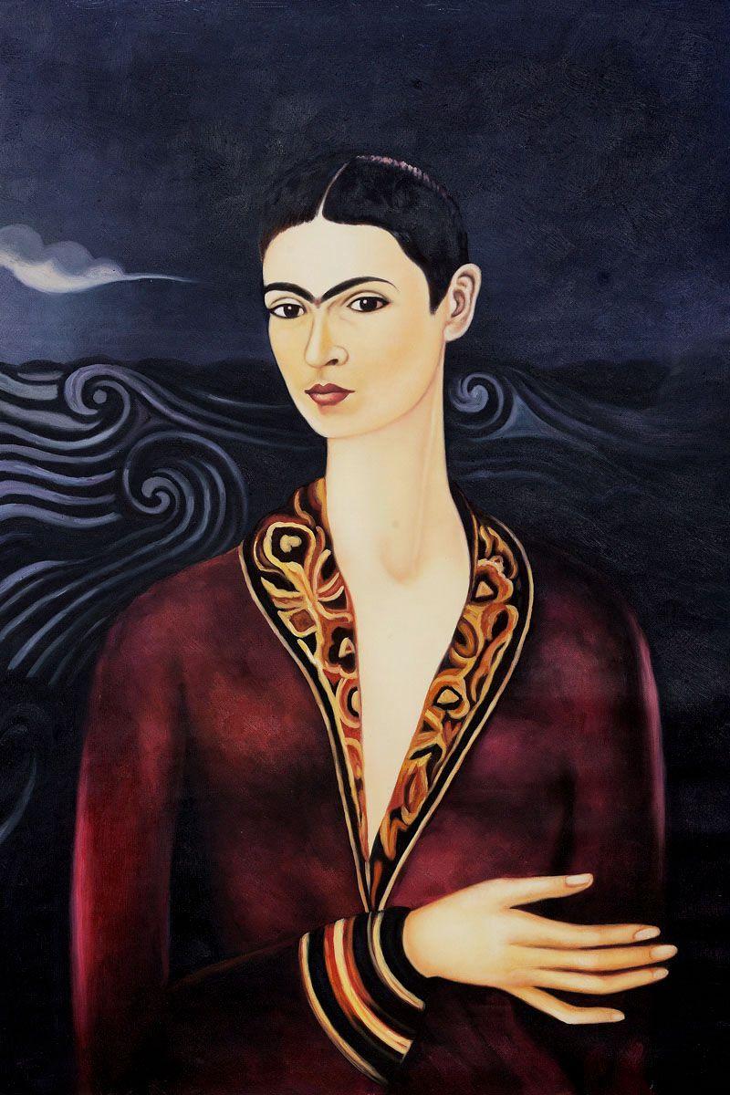 """""""Self Portrait in a Velvet Dress"""" by Frida Kahlo #portrait #art   Frida art, Frida kahlo ..."""