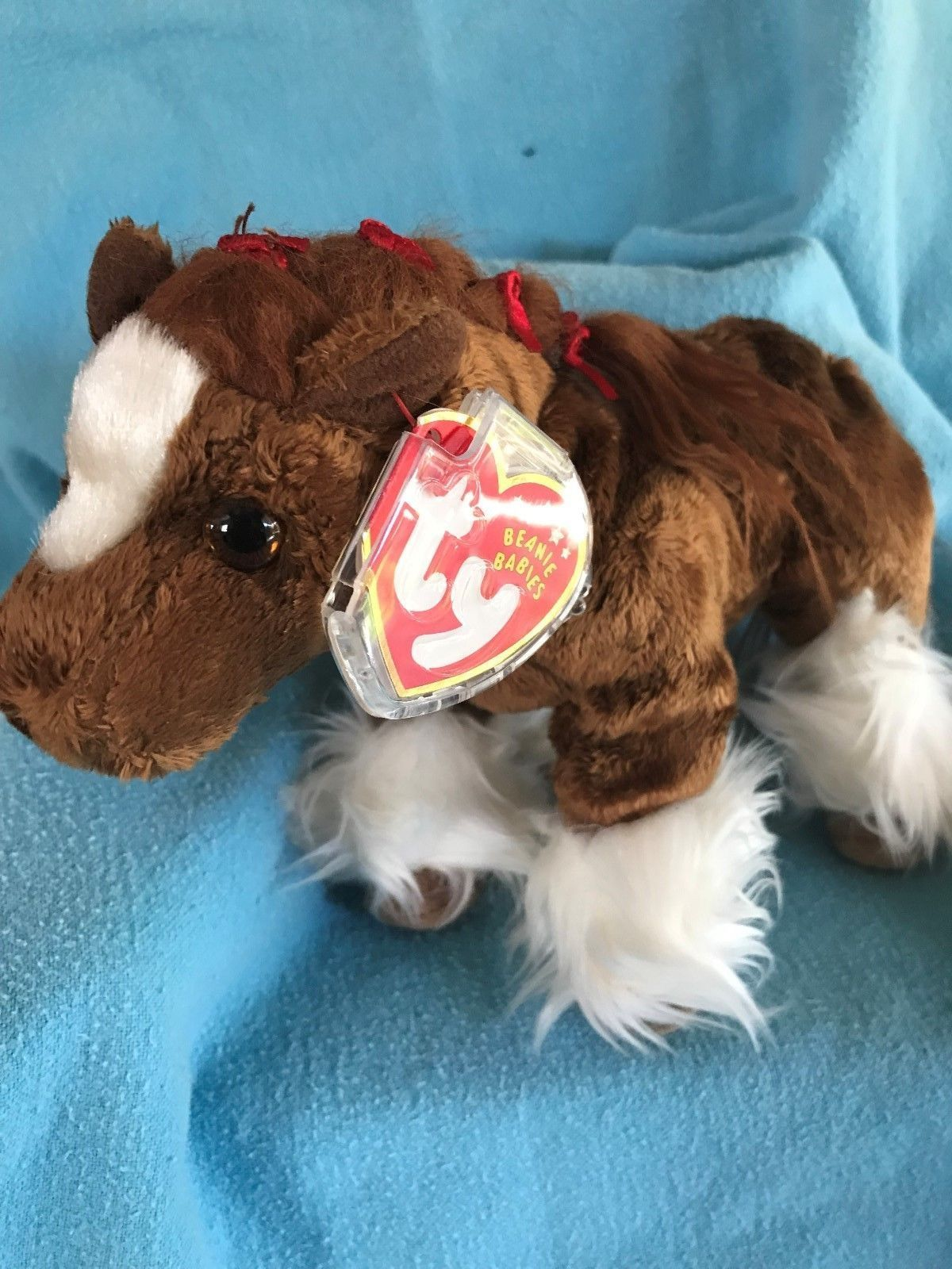 cee55148853 TY Beanie Baby Hoofer the Clydesdale Horse 2001 MWMTs Stuffed Animal Toy   animaltoys