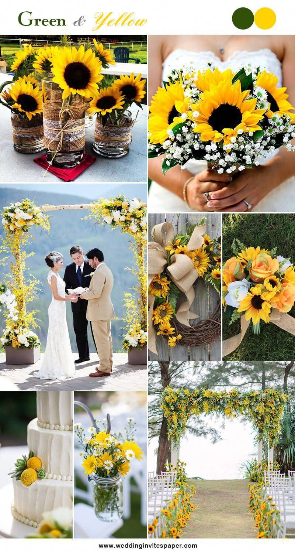 Los 5 mejores combos de color verde para alegrar tu gran día – Wedding Invites Paper s …