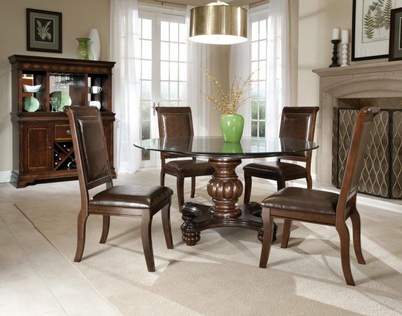 Dining Table Dark Brown Chair