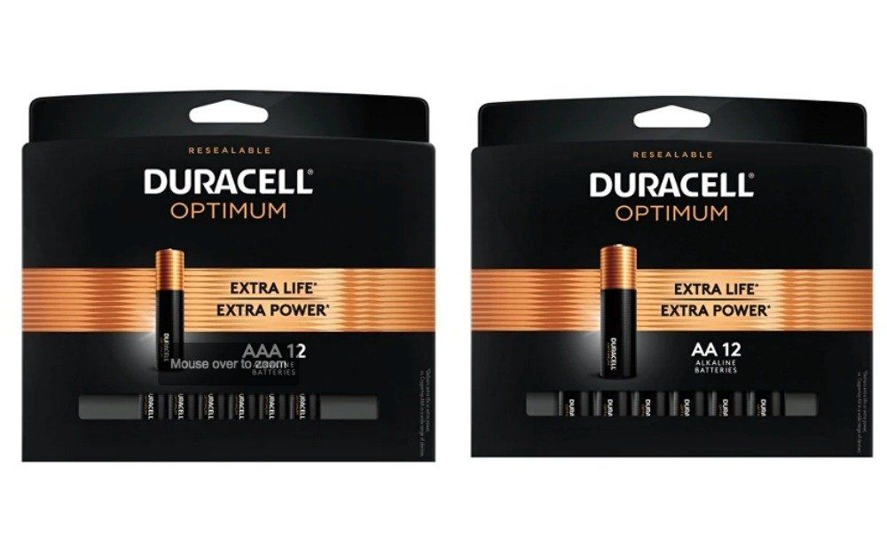 Up To 4 Free Packs Duracell Optimum Aa Or Aaa Batteries Pack Of 12 After Rewards At Office Depot Max Duracell Batteries Optima Battery