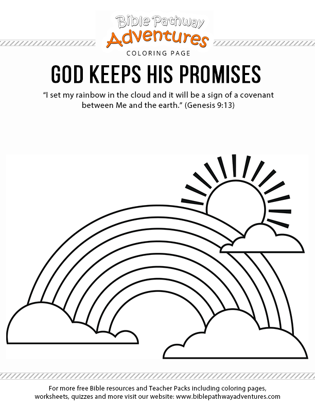 God Keeps His Promises Sunday School Coloring Pages Bible Coloring Pages Bible Lessons For Kids