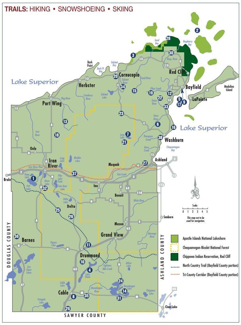 Bayfield County Hiking Trails