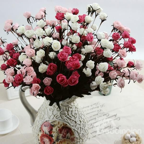 Beautiful Artificial Little Rose Bouquet For Living Room