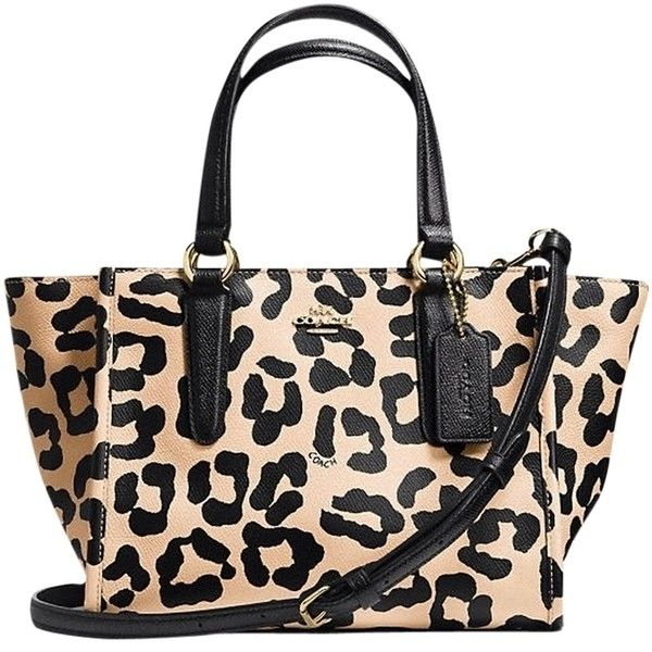 a9623f6023a92 Coach Crosby Mini Carryall in Ocelot Print Crossgrain Leather. Find this ...