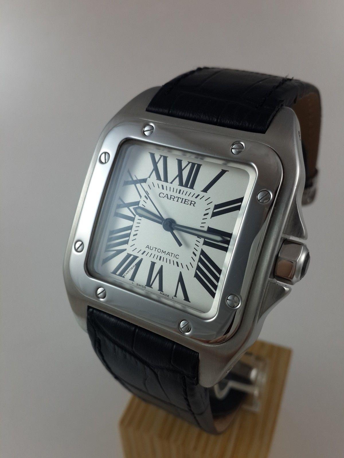 caaa375a44d88 MEN'S CARTIER SANTOS 100 XL AUTOMATIC STEEL WATCH 2656 | Cartier ...