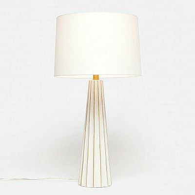 Made Goods Nova Table Lamp White Cement And Gold White Table Lamp Table Lamp Lamp