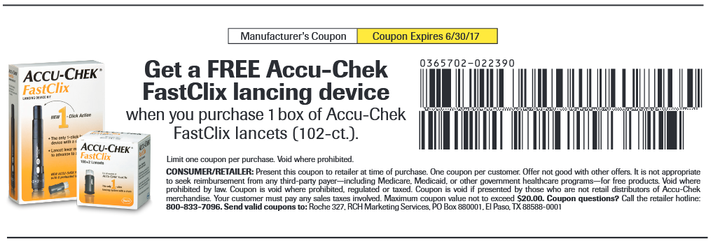 Get A Free Accu Chek Fastclix Lancing Device When You