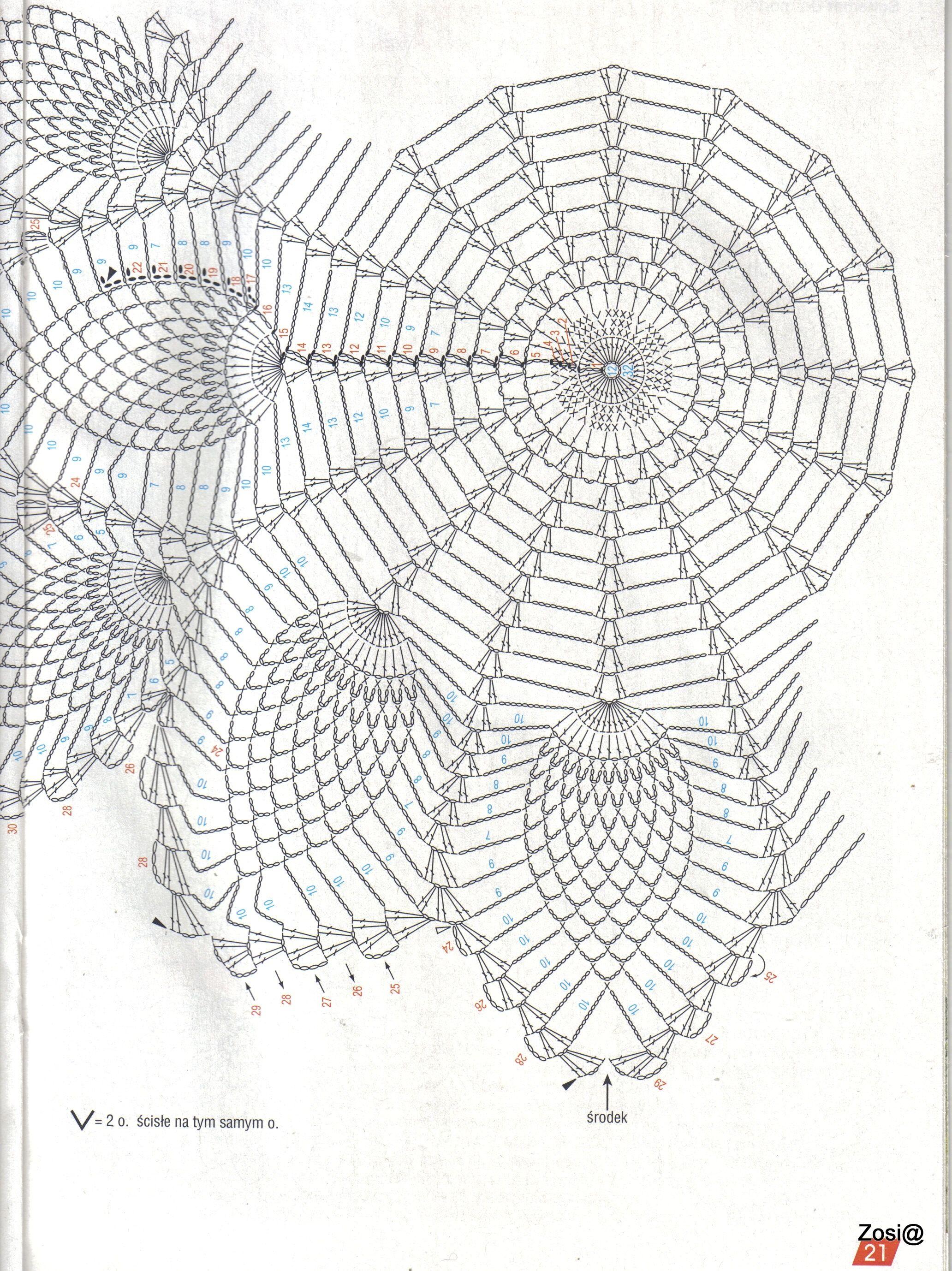 Ananas-Muster   Häkeldeckchen   Pinterest   Crochet, Crochet doilies ...