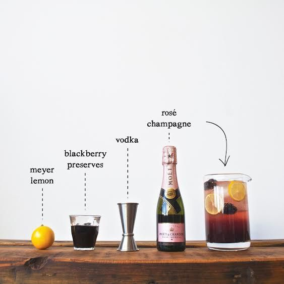 The Rosé Noir {image and recipe by W&P Design}