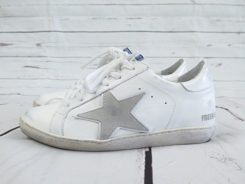 2d540ddcf42 Freebird by Steven Sneaker 927 White Leather Side Star Size 9 Lace-Up Low  Top  SteveMadden  FashionSneakers
