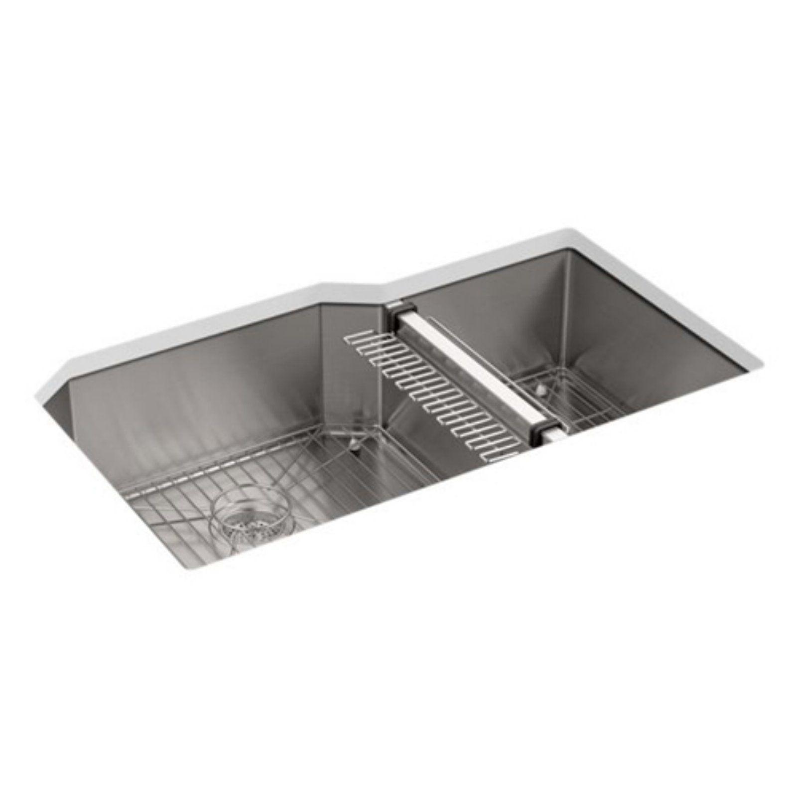 Kohler Strive K5282 Double Basin Undermount Kitchen Sink With Sink