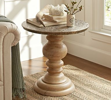 Beau Lillie Pedestal Accent Table #potterybarn Found This At The PB Outlet  Today!!! Beautiful!!   In My Home   Pinterest   Living Rooms, Decorating  And Recliner