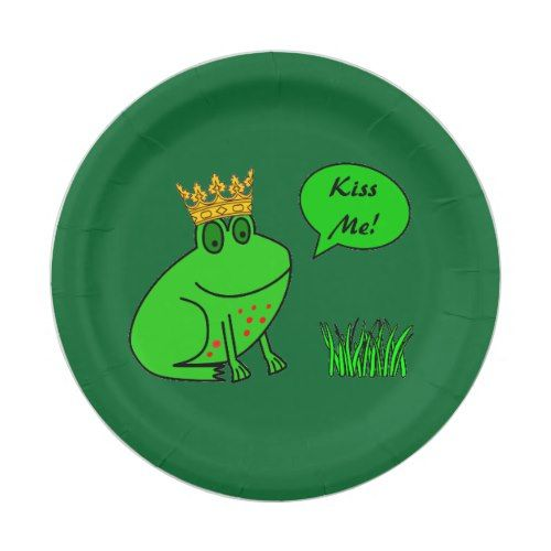 Funny Frog Prince - Kids Party Paper Plates   Princess Birthday Party   Pinterest   Funny frogs and Princess birthday  sc 1 st  Pinterest & Funny Frog Prince - Kids Party Paper Plates   Princess Birthday ...
