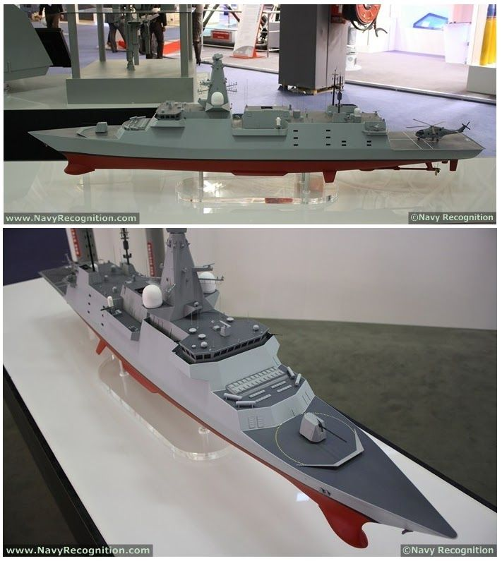BAE Systems model at EuroNaval exhibition, October 2012