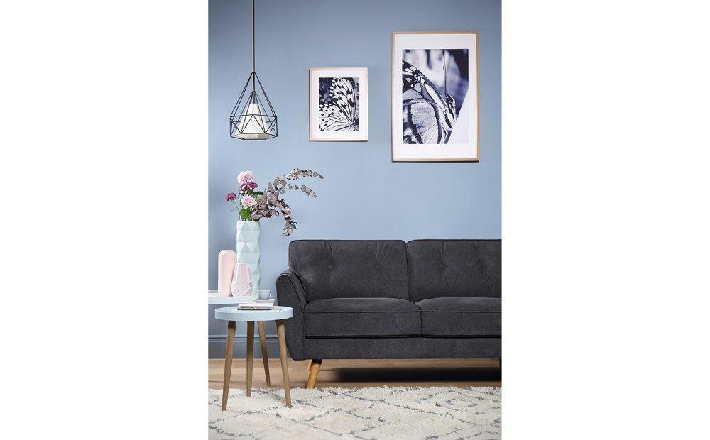 Harlow Slate Grey Plush Fabric L Shape Corner Sofa Rhf Furniture Choice Corner Sofa Furniture Choice White Dining Set