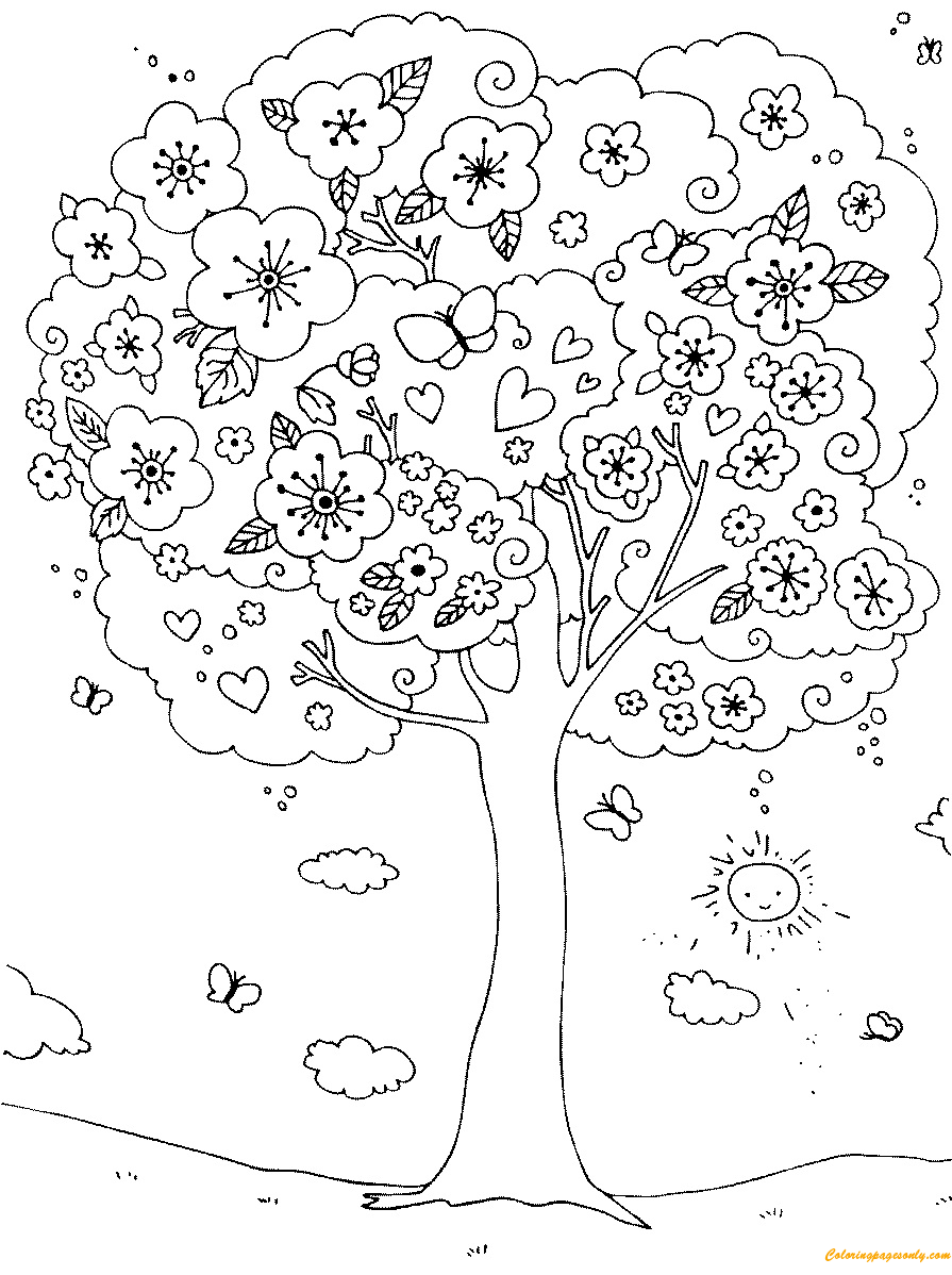 Pin by Coloring Pages on Spring