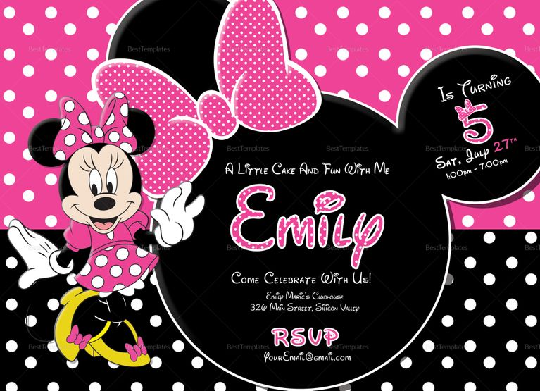 Special Minnie Mouse Birthday Invitation Template Minnie Mouse Birthday Invitations Minnie Invitations Birthday Invitations